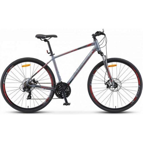 """Велосипед Stels Cross 130 MD Gent 28"""" V010(серый, 2019)"""