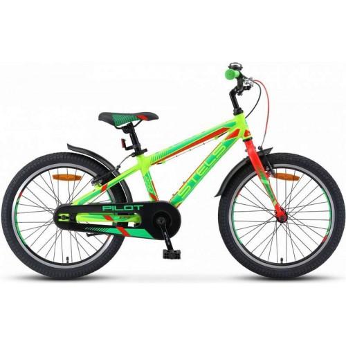 """Велосипед Stels Pilot 250 Gent 20"""" V010 (салатовый/красный, 2019)"""