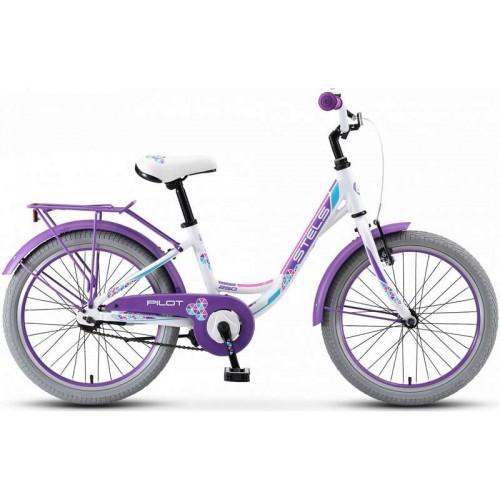 """Велосипед Stels Pilot 250 Lady 20"""" V010 (белый/фиолетовый, 2019)"""