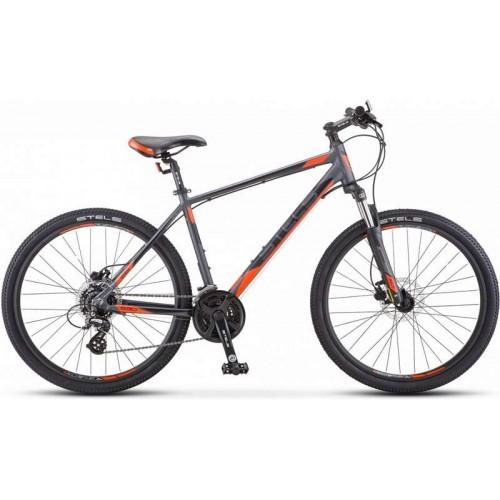 """Велосипед Stels Navigator 630 D 26"""" V010 (антрацитовый/красный, 2019)"""