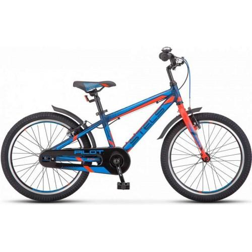 """Велосипед Stels Pilot 250 Gent 20"""" V010 (синий/красный, 2019)"""