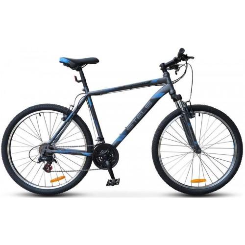 """Велосипед Stels Navigator 500 V 26"""" V020 (антрацитовый/синий, 2019)"""
