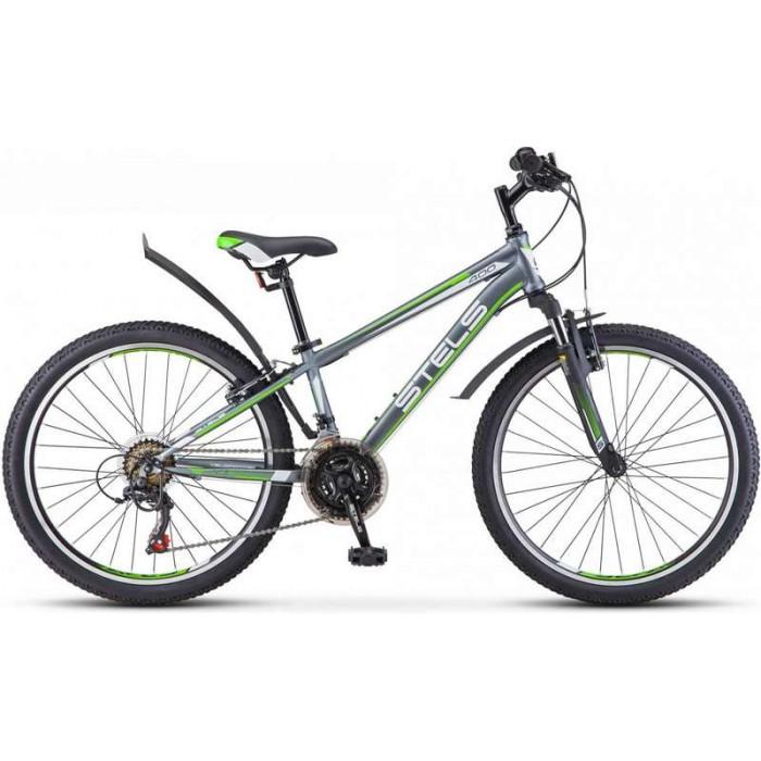 """Велосипед Stels Navigator 400 V 24"""" V040 (серый/зеленый, 2019) купить в Минске"""