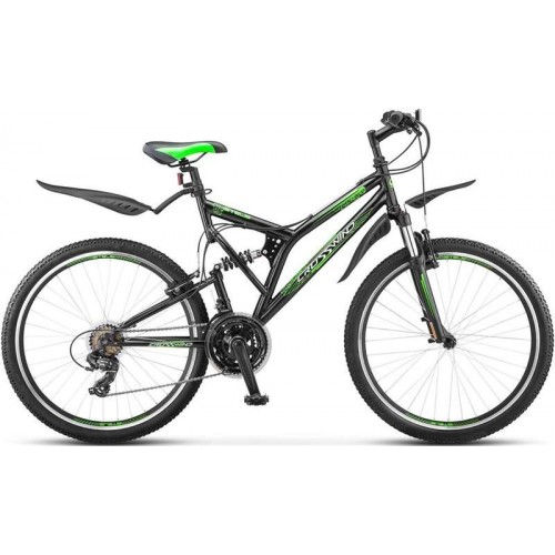 "Велосипед Stels Crosswind V 26"" (черный/зеленый, 2019)"