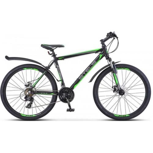 "Велосипед Stels Navigator 620 MD 26"" V010 (черный/зеленый, 2019)"