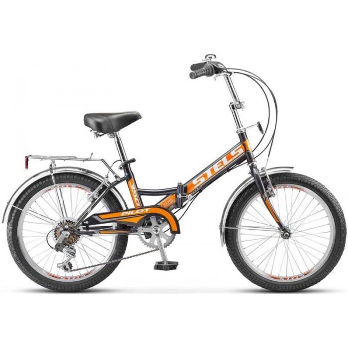 """Велосипед Stels Pilot 350 20"""" Z011 (черный/оранжевый, 2019) купить в Минске"""