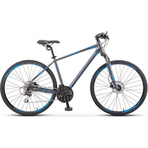 "Велосипед Stels Cross 150 D Gent 28"" V010(серый, 2020)"