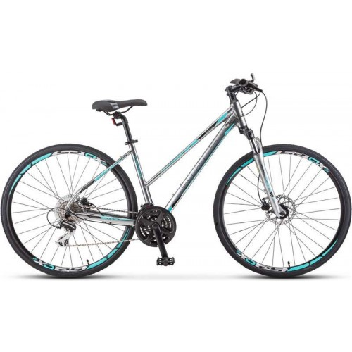 "Велосипед Stels Cross 150 D Lady 28"" V010(серебристый, 2020)"