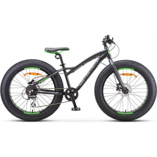 """Велосипед Stels Aggressor D 24"""" V010 (черный/зеленый, 2020)"""