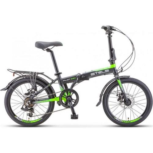 "Велосипед Stels Pilot 630 MD 20"" V010 (черный/зеленый, 2020)"
