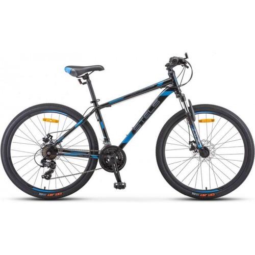 """Велосипед Stels Navigator 500 MD 26"""" F010 (черный/синий, 2020)"""