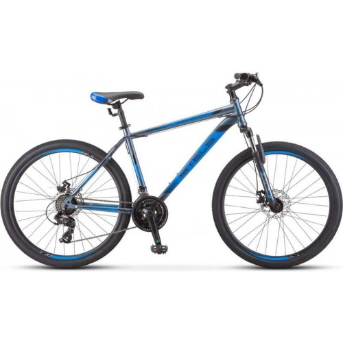 "Велосипед Stels Navigator 500 MD 26"" F010 (серый/голубой, 2020)"