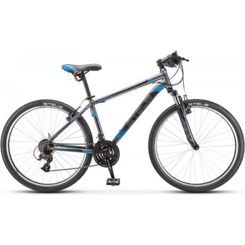 """Велосипед Stels Navigator 500 V 26"""" V030 (серый/синий, 2020)"""