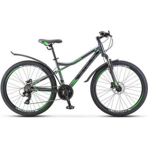 "Велосипед Stels Navigator 610 D 26"" V010 (серый/зеленый, 2020)"