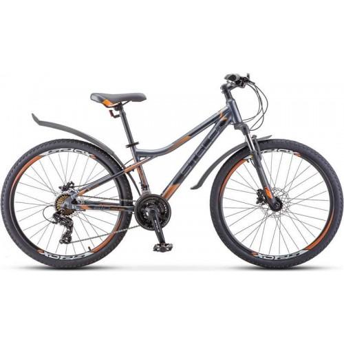 """Велосипед Stels Navigator 610 D 26"""" V010 (серый/оранжевый, 2020)"""