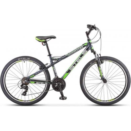 """Велосипед Stels Navigator 610 V 26"""" K010 (серый/зеленый, 2020)"""