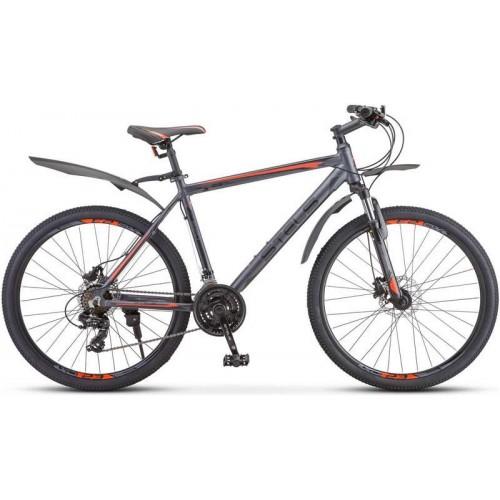 """Велосипед Stels Navigator 620 D 26"""" V010 (серый/оранжевый, 2020)"""