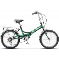 """Велосипед Stels Pilot 450 20"""" (чёрный-зеленый, 2017) купить в Минске"""