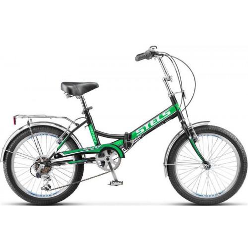 """Велосипед Stels Pilot 450 20"""" (чёрный-зеленый, 2017)"""