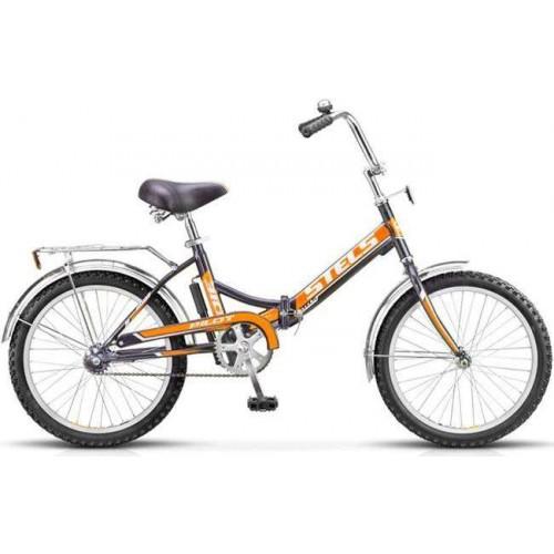 """Велосипед Stels Pilot 310 20"""" чёрно-оранжевый (2017)"""