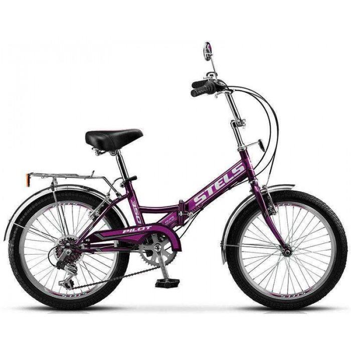 """Велосипед Stels Pilot 350 20"""" фиолетовый (2017) купить в Минске"""