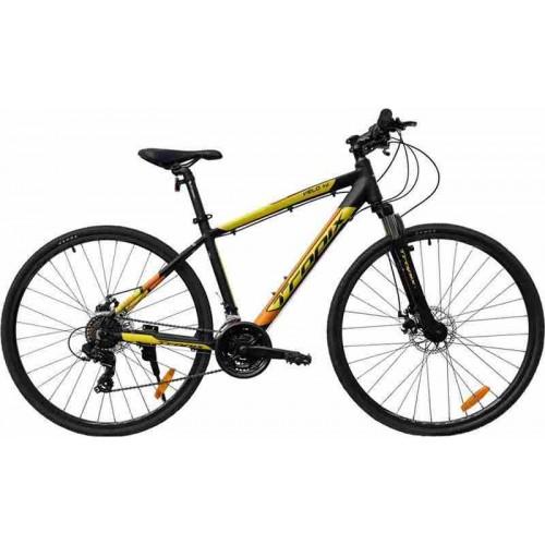 """Велосипед Tropix Velo HR 28"""" (черный/желтый, 2019)"""