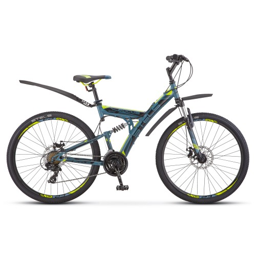 "Велосипед Stels Focus MD 21-sp 27.5"" V010 (голубой/желтый, 2020)"