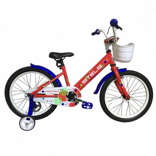 """Детский велосипед STELS Captain 18"""" V010 (красный,2020)"""