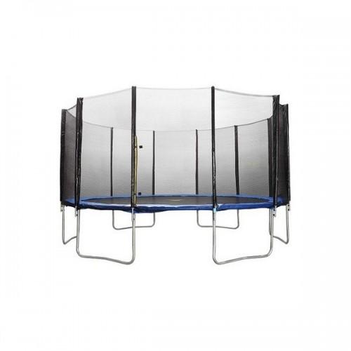 Батут Atlas Sport 490 см - 16ft Basic (6 ног) с внешней сеткой и лестницей