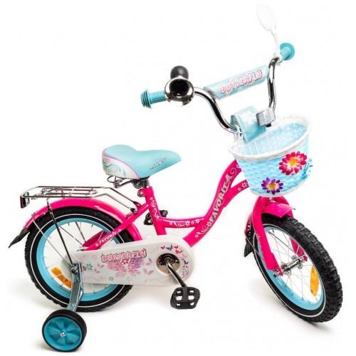 """Велосипед Favorit Butterfly 18"""" (розовый/бирюзовый, 2020)"""