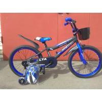 """Велосипед Delta Sport 16"""" (черный/синий, 2020)"""