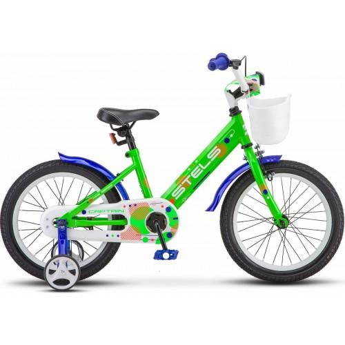 """Детский велосипед Stels Captain 16"""" V010 (зеленый, 2020)"""