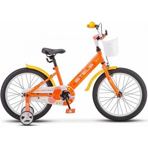 """Детский велосипед STELS Captain 18"""" V010 (оранжевый,2020)"""