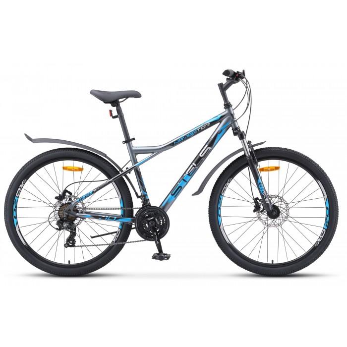 """Велосипед Stels Navigator 710 D 27.5"""" V020 (серый/голубой, 2020) купить в Минске"""