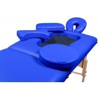 Складной 2-х секционный деревянный массажный стол BodyFit, синий (70 см) купить в Минске