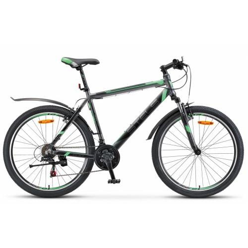 """Велосипед Stels Navigator 600 V V020 26"""" (антрацитовый/зеленый, 2019)"""