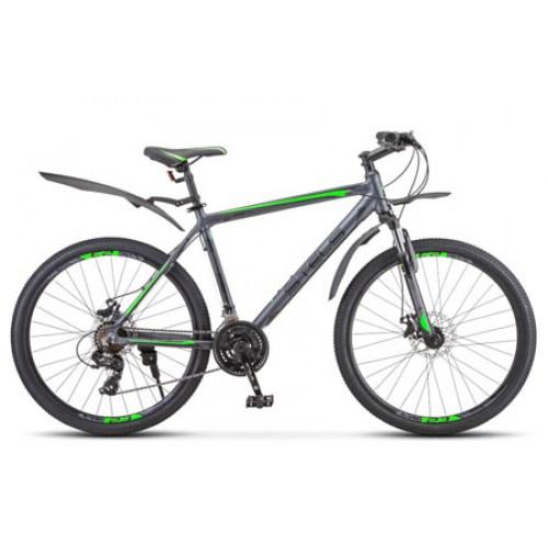 "Велосипед Stels Navigator 620 MD 26"" V010 (черный/зеленый, 2020)"