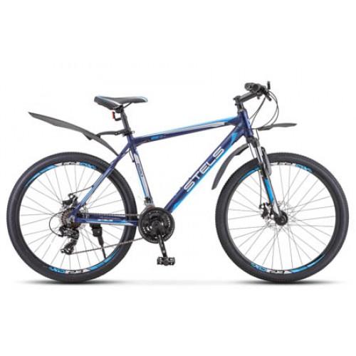 """Велосипед Stels Navigator 620 MD 26"""" V010 (черный/синий, 2020)"""