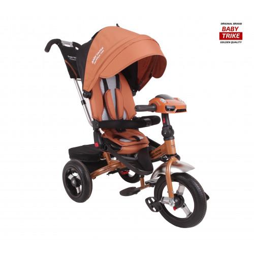 Детский трехколесный велосипед Baby Trike Premium Original (бронзовый, 2019)