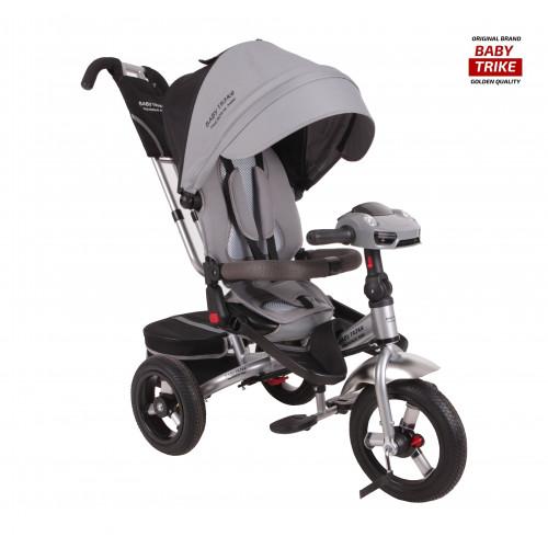 Детский трехколесный велосипед Baby Trike Premium Original (серый, 2019)