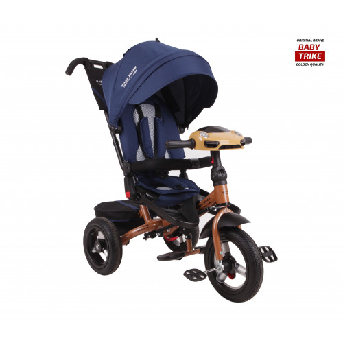 Детский трехколесный велосипед Baby Trike Premium Original (синий, 2019)