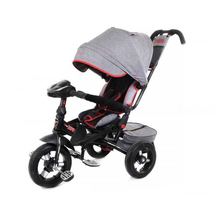 Детский трехколесный велосипед Trike Super Formula, серый (Bluetooth и USB выход)
