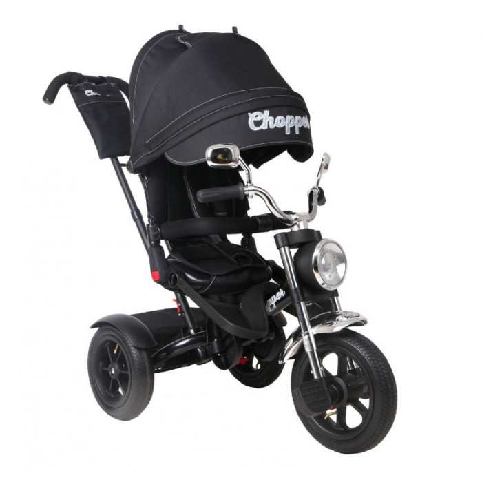 Детский трехколесный велосипед Chopper CH1 (черный хром)