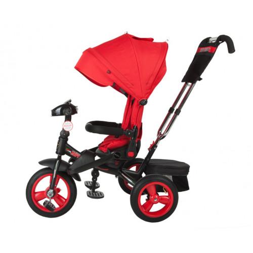 Детский трехколесный велосипед Trike Super Formula, красный (Bluetooth и USB выход)