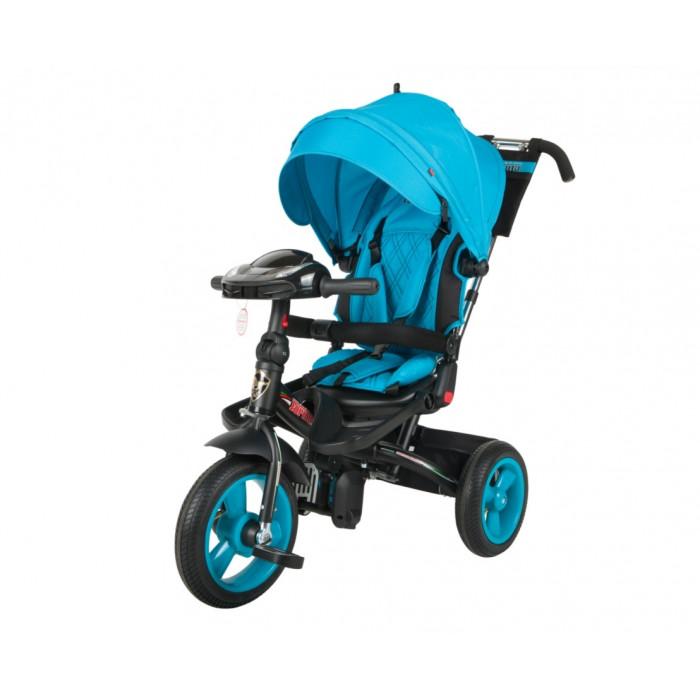 Детский трехколесный велосипед Trike Super Formula, голубой (Bluetooth и USB выход)