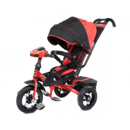 Детский трехколесный велосипед Trike Super Formula, красный/черный (Bluetooth и USB выход)