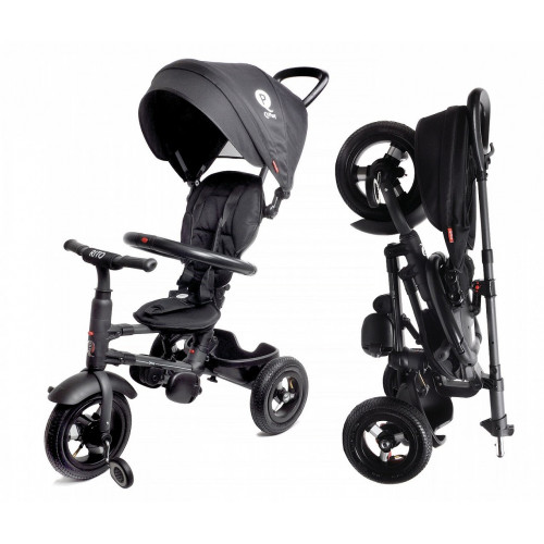 Детский трехколесный велосипед QPlay Rito QA6 (черный)