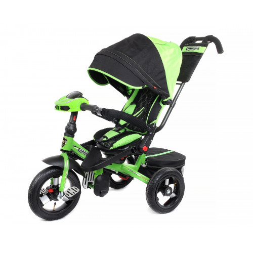 Детский трехколесный велосипед Trike Super Formula, зеленый (Bluetooth и USB выход)