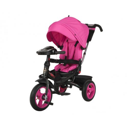 Детский трехколесный велосипед Trike Super Formula, розовый (Bluetooth и USB выход)