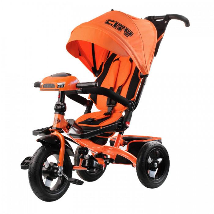 Детский трехколесный велосипед CITY H5 с USB (оранжевый)